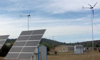 3.2kWh system in Flagstaff, Arizona.  Also, there are 2 Whisper 200 Wind Turbines.